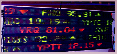 LED Big  Board  stocks  6 lines of 1 line displays stacked