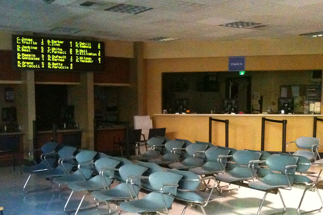 Waiting room LED multi line message board
