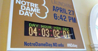 Digital Countdown to Notre Dame Day